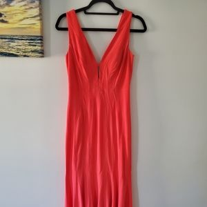 Cocktail dress color salmon with tags, size 4